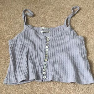 blue loose tank top from urban outfitters